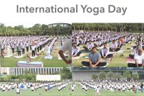 Hari Krishna Group hosts International Yoga Day. 2318 yoga enthusiast participated in the event