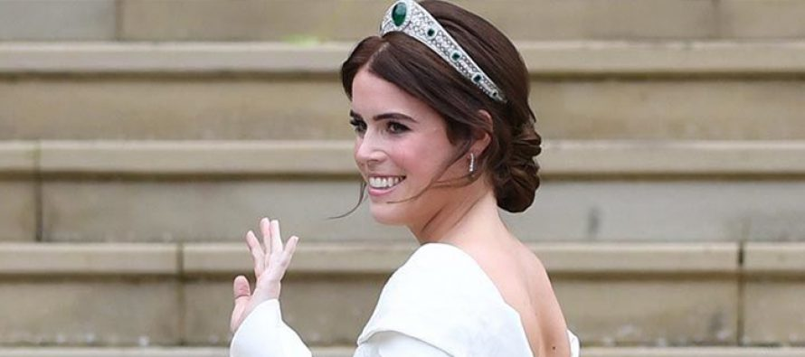 Princess Eugenie wears Platinum Tiara on her wedding day