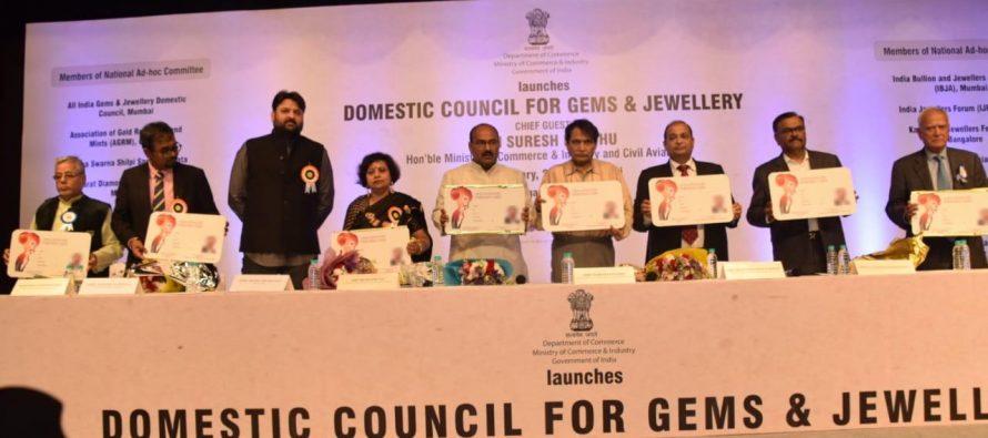 Suresh Prabhu Launches Gem & Jewellery Domestic Council in Mumbai