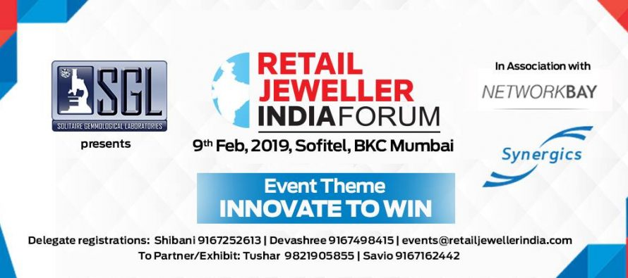 SGL Retail Jeweller India Forum 2019 set to help you innovate to win