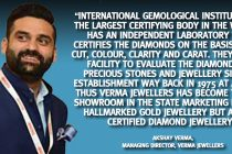 Verma Jewellers Becomes the Only Store in Himachal Pradesh to Make 100% IGI Certified Diamond Jewellery