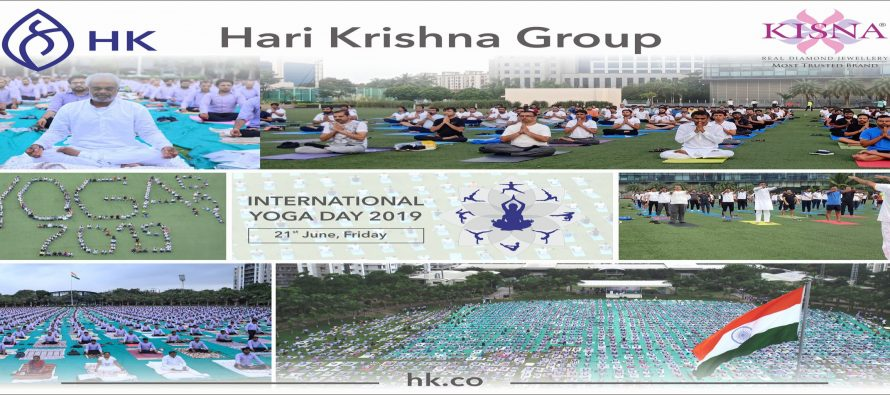 Hari Krishna Group celebrated 5th International Yoga Day