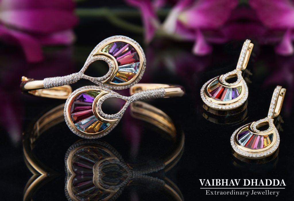 Rainbow Bracelet Earrings