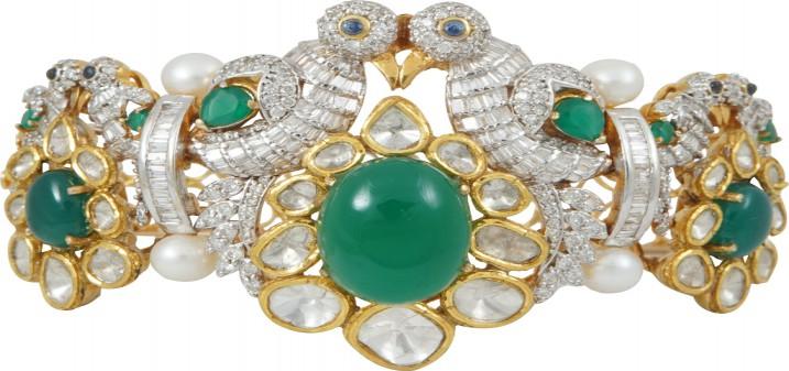 Bird_Motif_Diamond_Emerald__Bracelet
