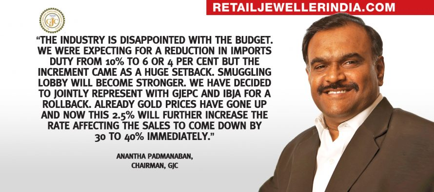 GJC demands rollback and further reduction in gold import duty