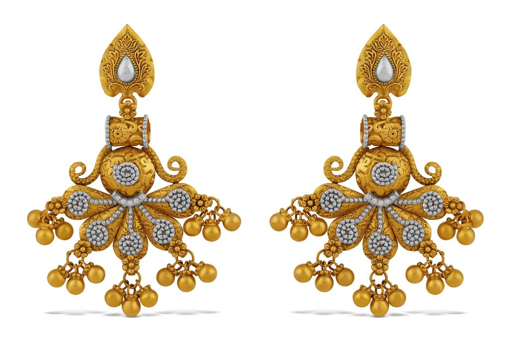 Yellow gold earrings by TBZ - The Original