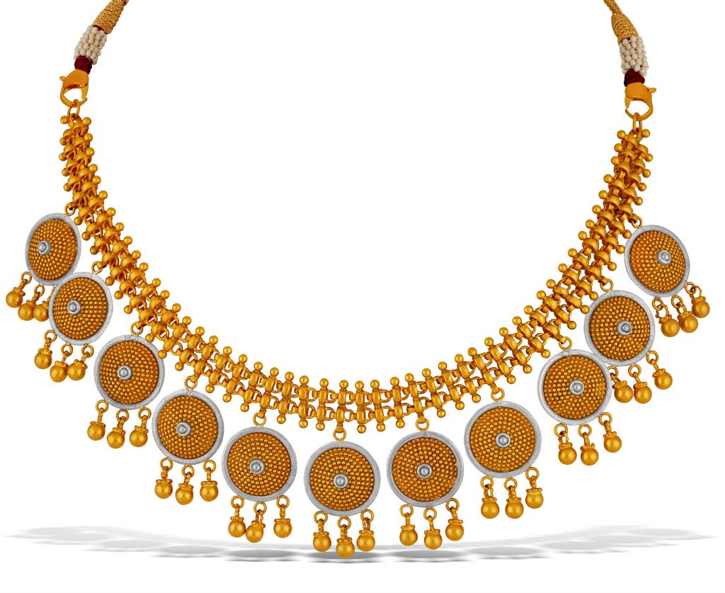 Yellow gold necklace by TBZ - The Original