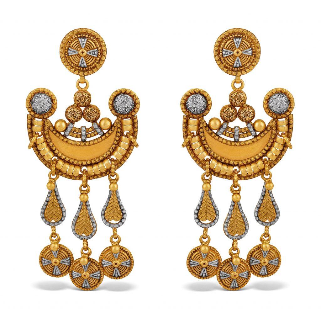 long earrings in yellow gold by TBZ - The Original