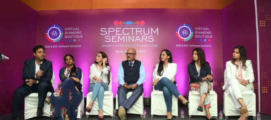 Panel Discussions on Buyer Seller relationships and Young Jewellery Professionals at GJEPC's Spectrum Seminars at IIJS 2019 draw a full house
