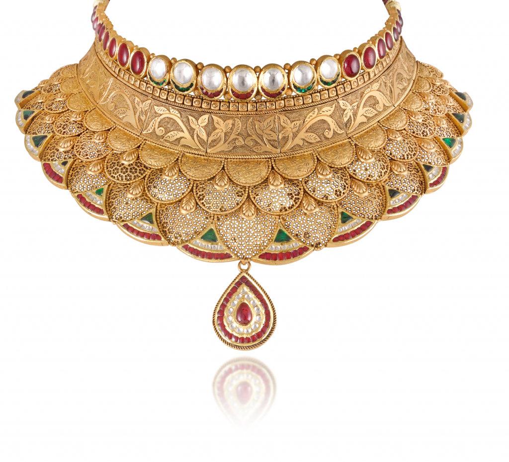 Bridal Necklace crafted in 22K gold