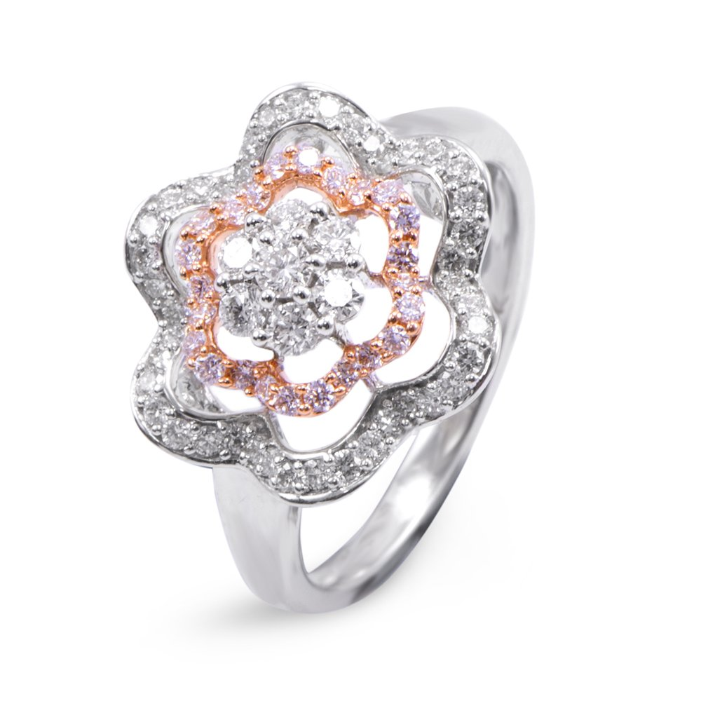 Joyalukkas Pride Diamond Collection 18k White Gold and Diamond Ring