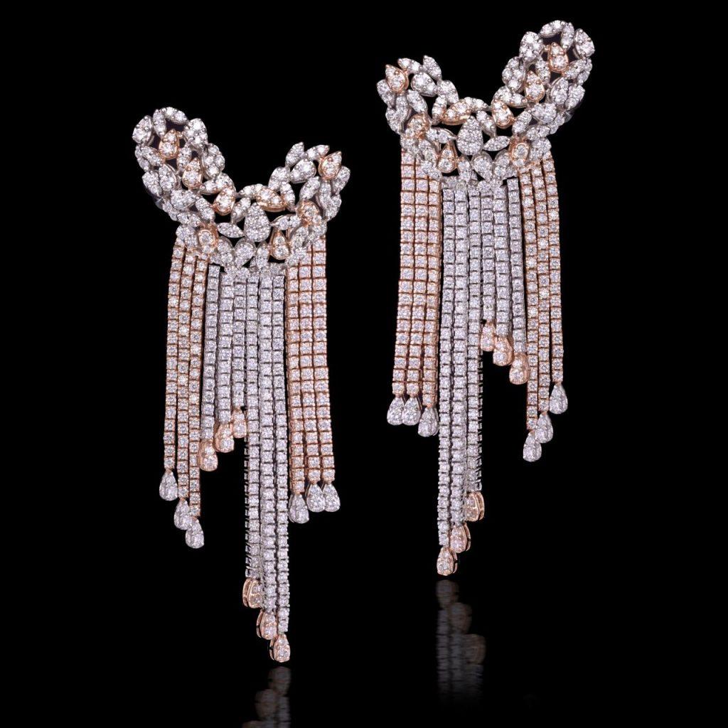 Long Diamond Earrings by Rajesh Tulsiani Fine Jewellery