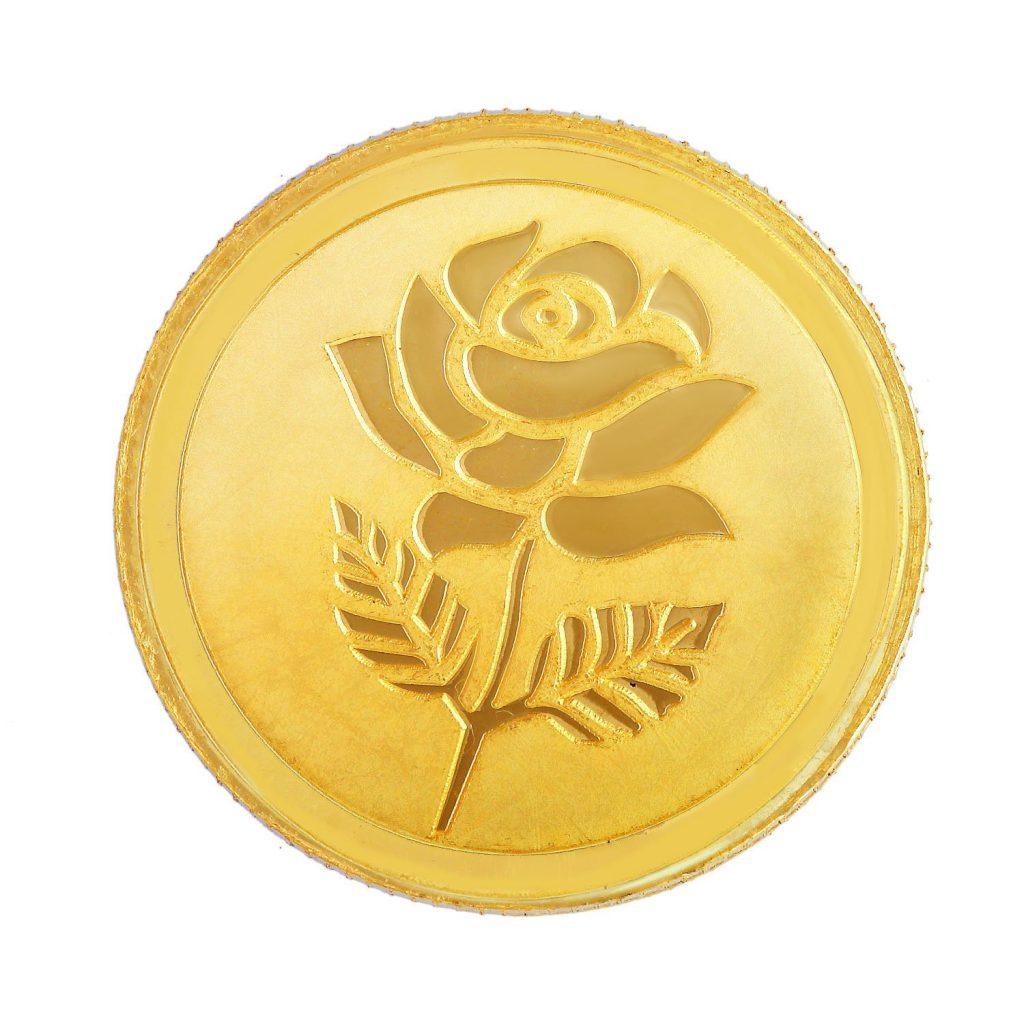 Malabar Gold & Diamonds 10 gm, 22k Yellow Gold Coin