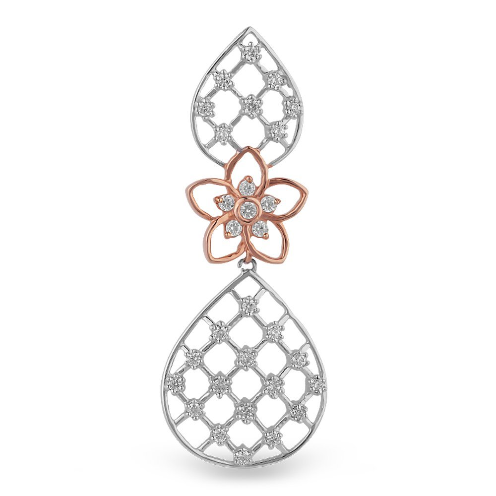 Orra Dahlia Collection 18k Two Colour Gold and Diamond Pendant