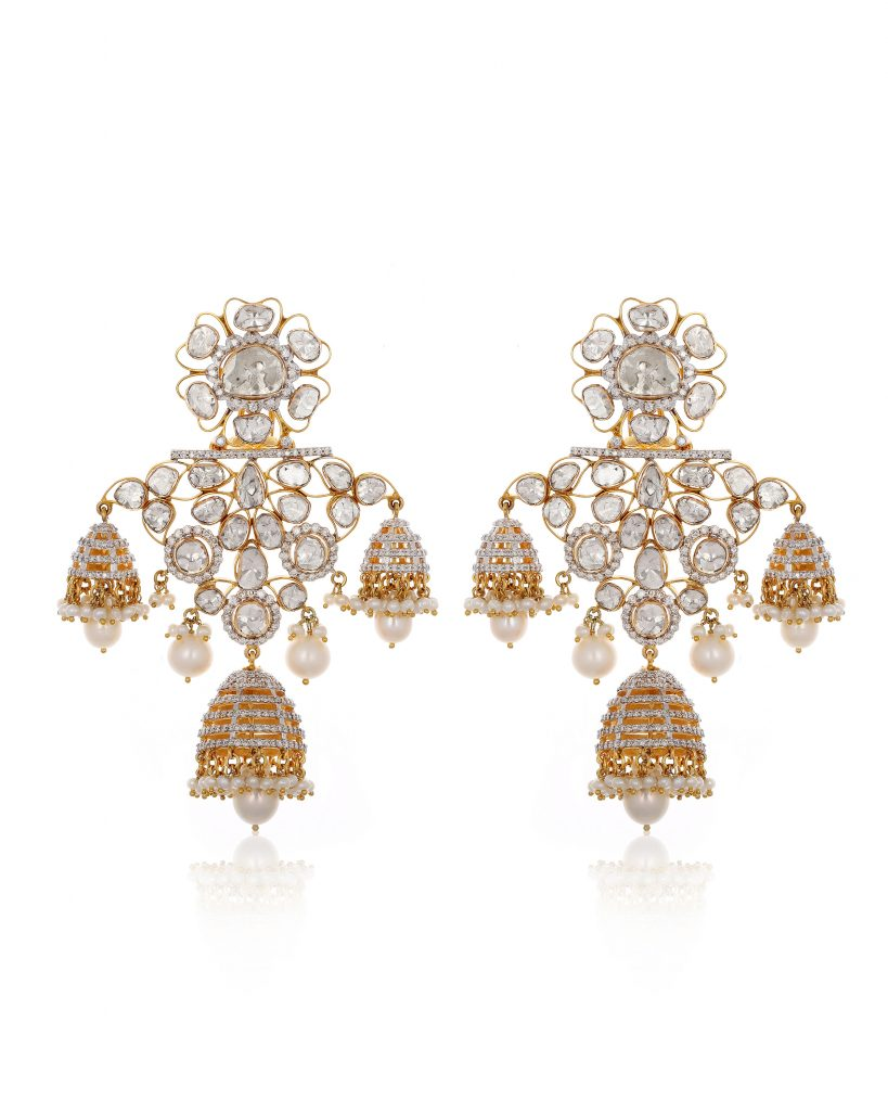 Polki Earrings byRajesh Tulsiani Fine Jewellery