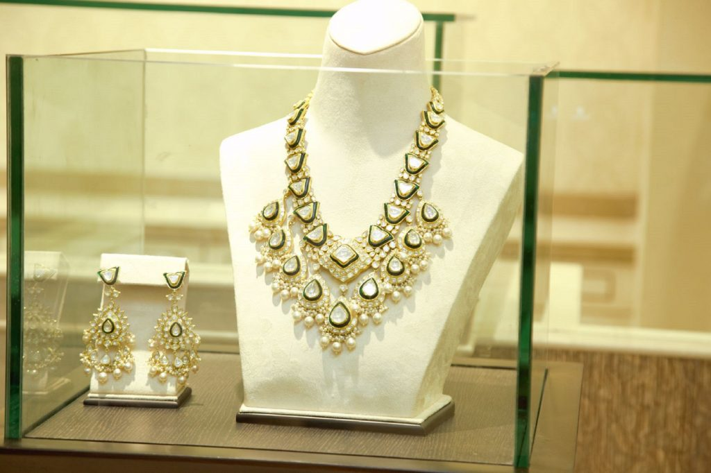 Polki Necklace Set By Ratanlal C. Bafna Jewellers