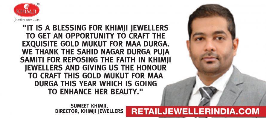 Bhubaneswar's Khimji Jewellers crafts first gold crown of Maa Durga in Saheed Nagar
