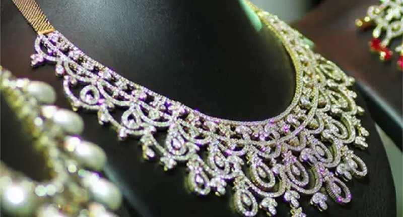diamond-studded necklace