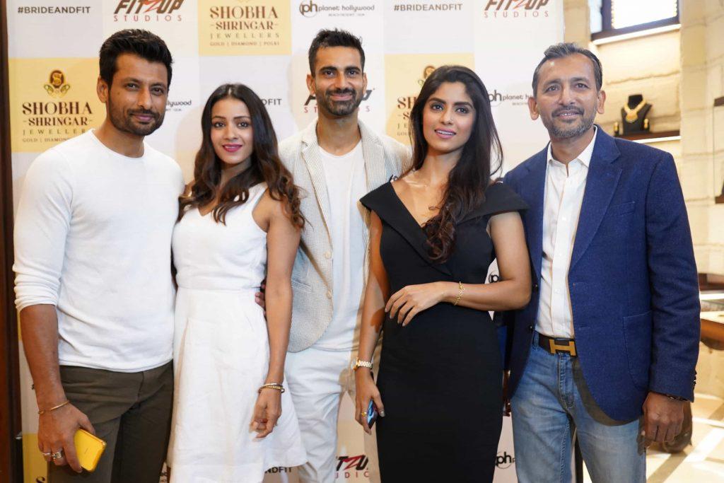 Indraneil Sengupta, Barkha Sengupta, Sunny Arora and Snehal Choksey seen at Fitzup Bride&Fit Launch at Shobha Shringar Jewellers