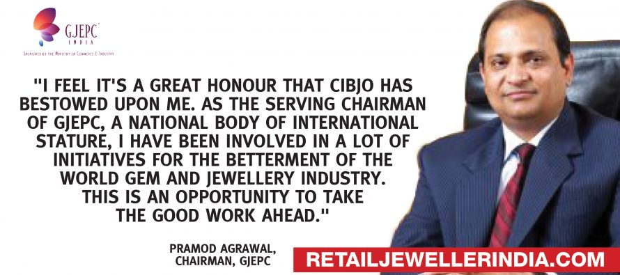 Pramod Kumar Agrawal elected as first-ever Indian Vice President  of CIBJO, the World Jewellery Confederation