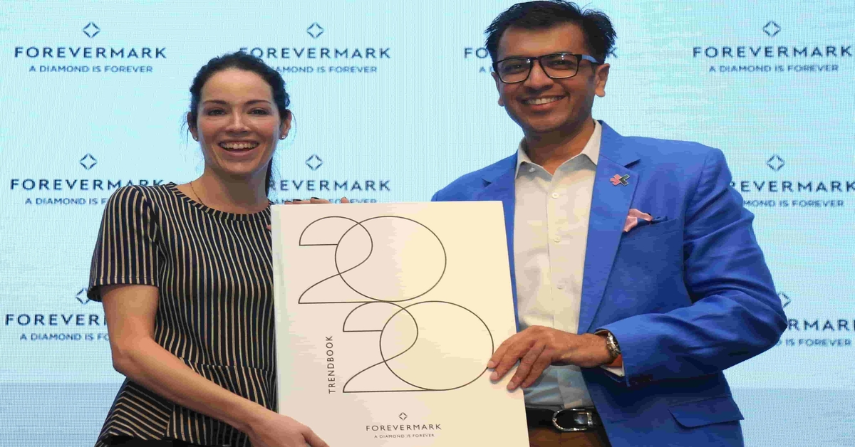 Federica Imperiali, Head of New Product Development at Forevermark and Mr. Sachin Jain, President, Forevermark India at the launch of Forevermark's Spring Summer Trends 1