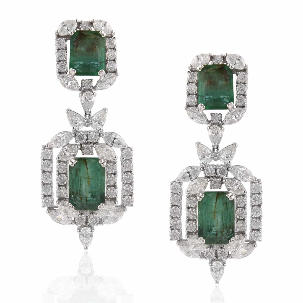 Emerald earrings by RK Jewellers South Extension 2