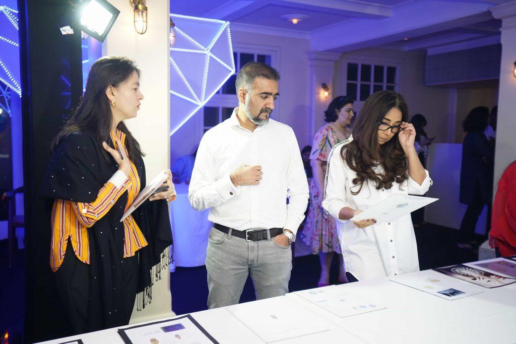 Richa Goyal Sikri with Milan Chokshi, Convener Promotions and Marketing, GJEPC and Nisha Jhangiani, Consulting Curator for GJEPC Artisan Jewellery Design Awards 2020