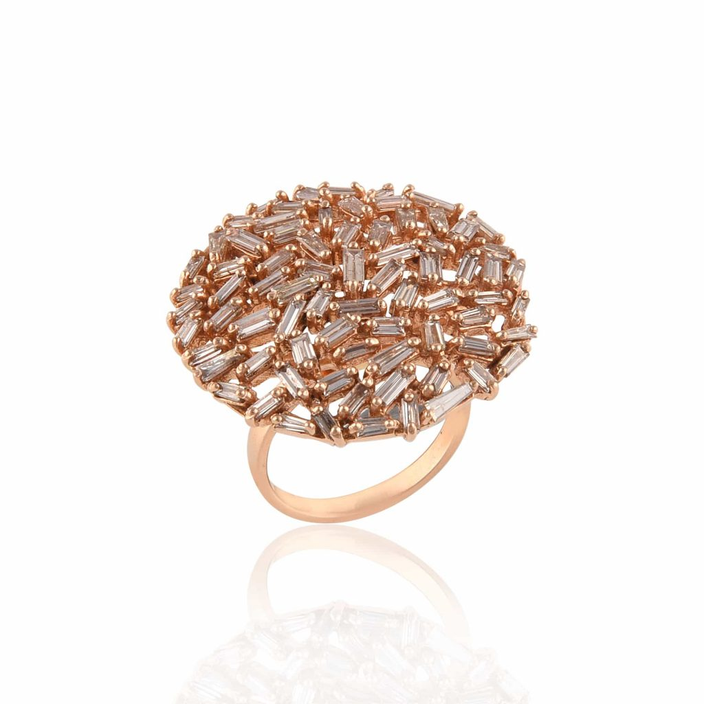 Unique gold and stone ring by RK Jewellers South Extension 2