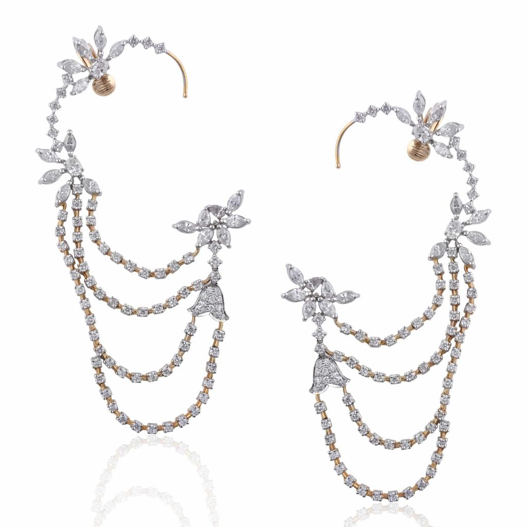 Unique layered cuff earrings by RK Jewellers South Extention 2