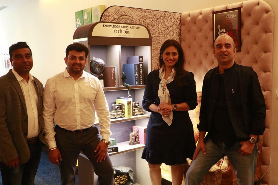 Founders of CLUBJIO Mr. Navin Sadarangani(NYUZ), Abhijit Prajapati (Artistry), Prernaa Makhariaa (StylePrer) and Samir Malwade (Siba Ads)