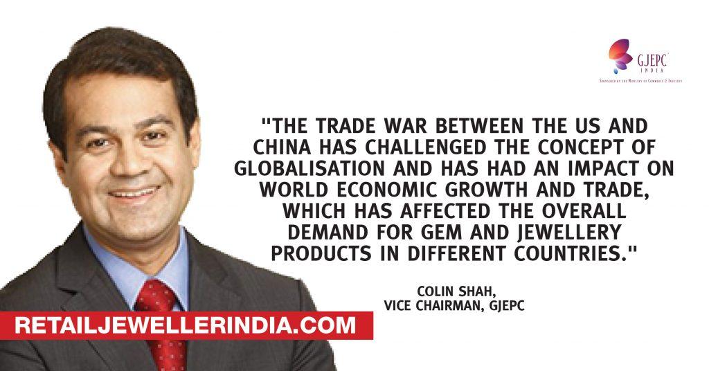 Quote- Coline Shah, Vice Chairman, GJEPC
