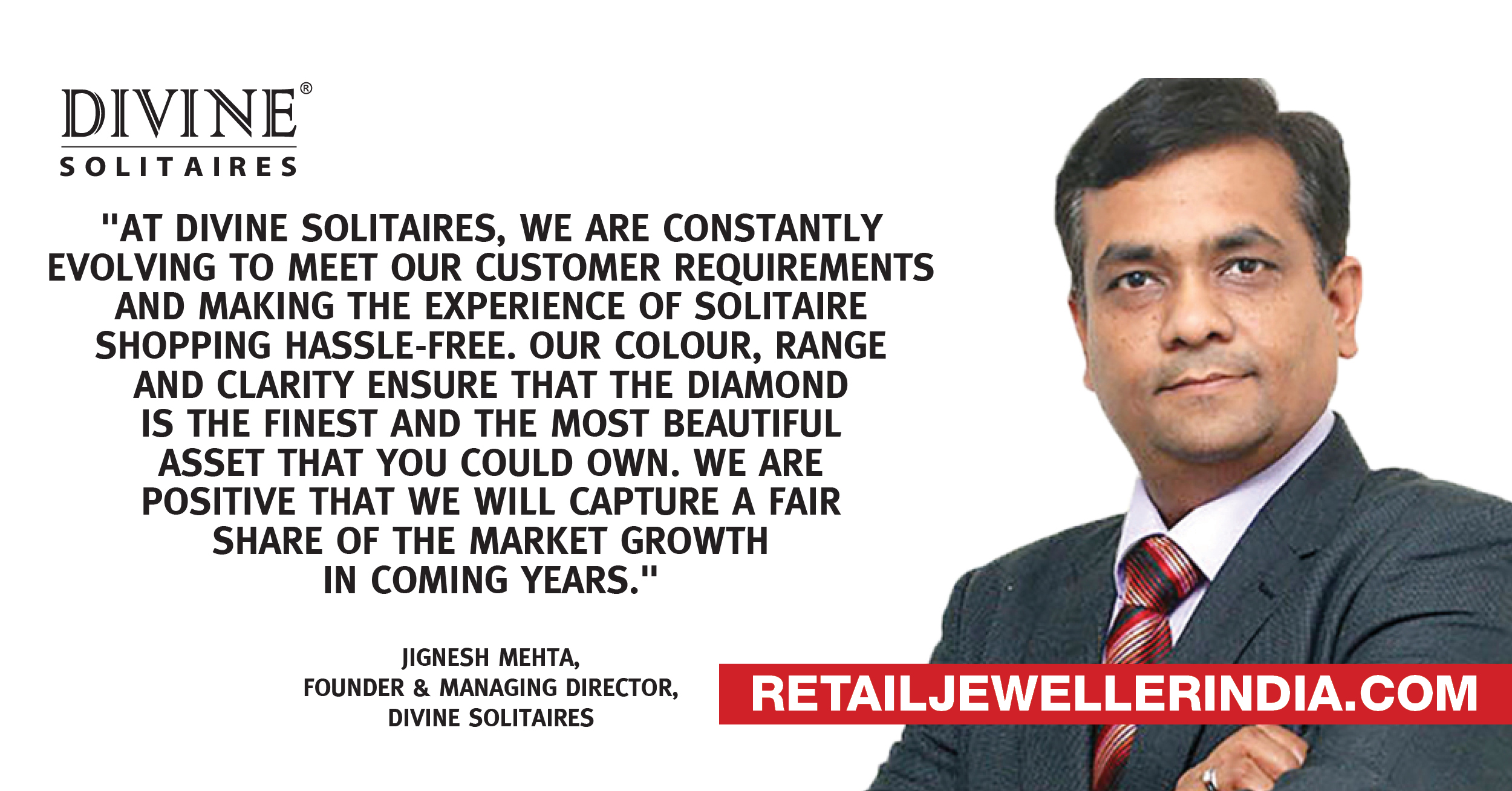 Jignesh Mehta, Founder and Managing Director of Divine Solitaires