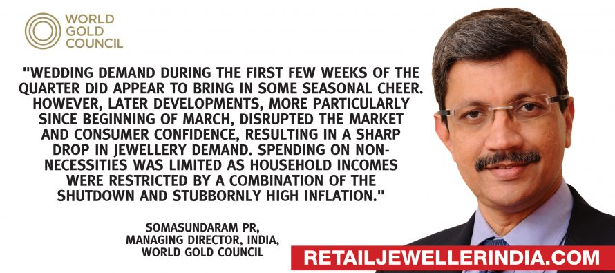 India Q1 gold purchase down 36%, pips China as top consumer: WGC
