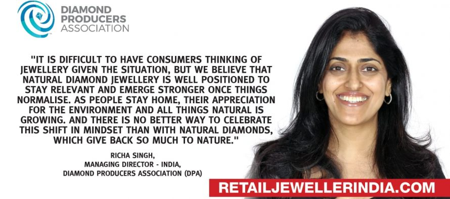 Natural diamond jewellery will emerge stronger, says Richa Singh of Diamond Producers Association