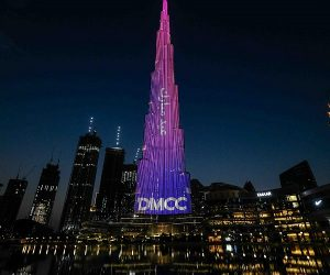 DMCC lights up the iconic Burj Khalifa with Eid Mubarak message to the Nation