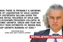 Growing risk of liquidation of gold in India: Chris Wood