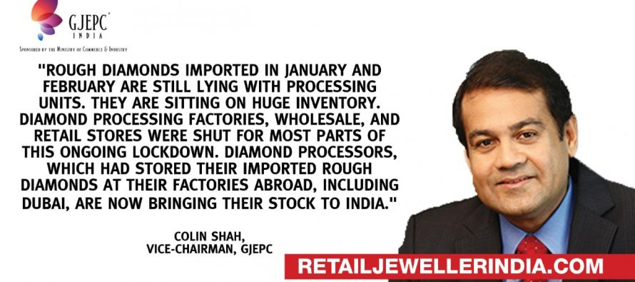 Indian processors suspend rough diamond import for the whole of June