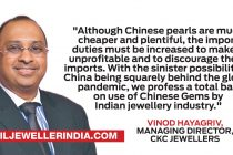 C. Krishniah Chetty Group of Jewellers will stop Chinese Pearls from their offerings