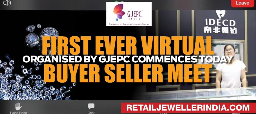 First ever Virtual Buyer Seller Meet organised by GJEPC commences today