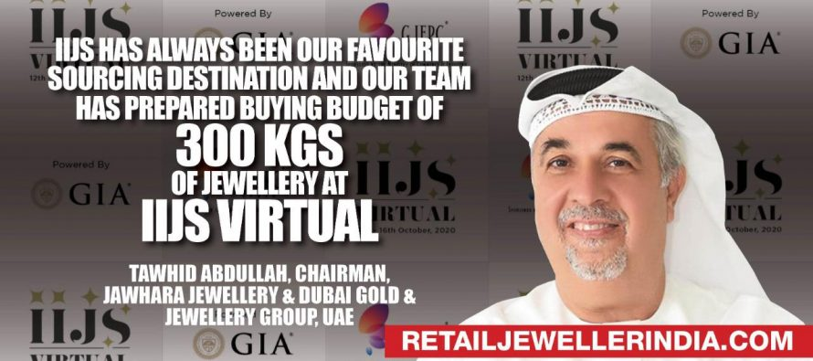 'IIJS has always been our favourite sourcing destination and our team has prepared buying budget of 300 Kgs of jewellery at IIJS VIRTUAL'