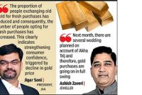 Falling gold price boosts demand for jewellery