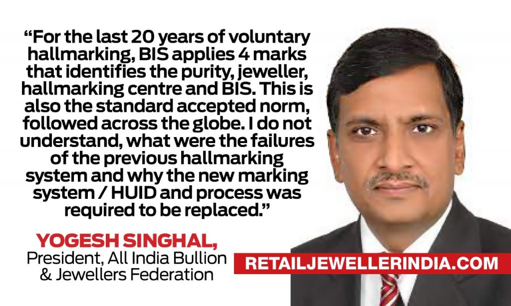 Yogesh SInghal, All India Bullion and Jewellers Federation