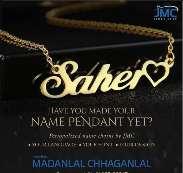 Jewellers Madanlal Chhaganlal bring out named pendants in diamond, gold
